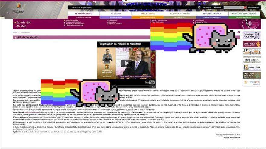 La web del Ayuntamiento de Valladolid, atacada por un pirata informático