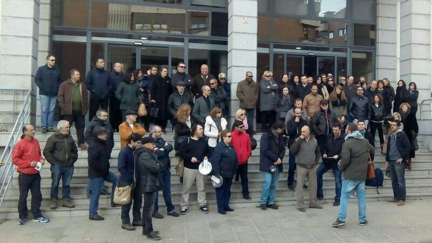 Protesta de funcionarios en Toledo