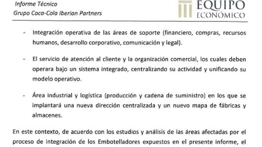 Detalle de la última hoja del informe técnico del ERE firmado por Francisco Piedras