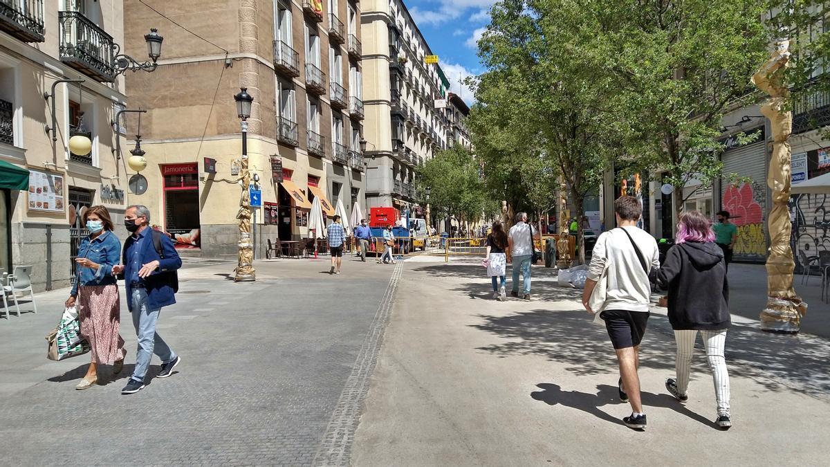 Zona de la calle Arenal con el pavimento reformado