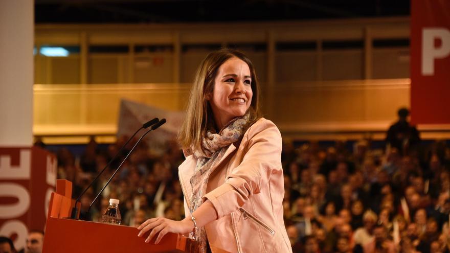 Estela Goijoetxea, dirigente cántabra que presentó la candidatura de Susana Díaz en Ifema