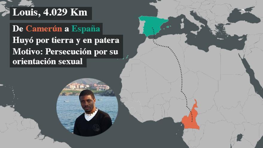 Louis huyó desde Camerún a España por la persecución y las amenazas que sufría por ser gay | FOTO: Imagen cedida