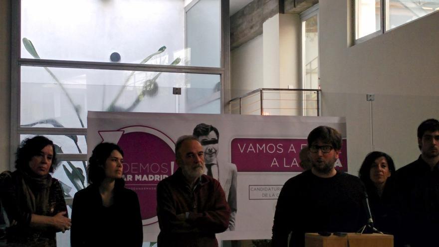 Miguel Urban en la presentación de la candidatura
