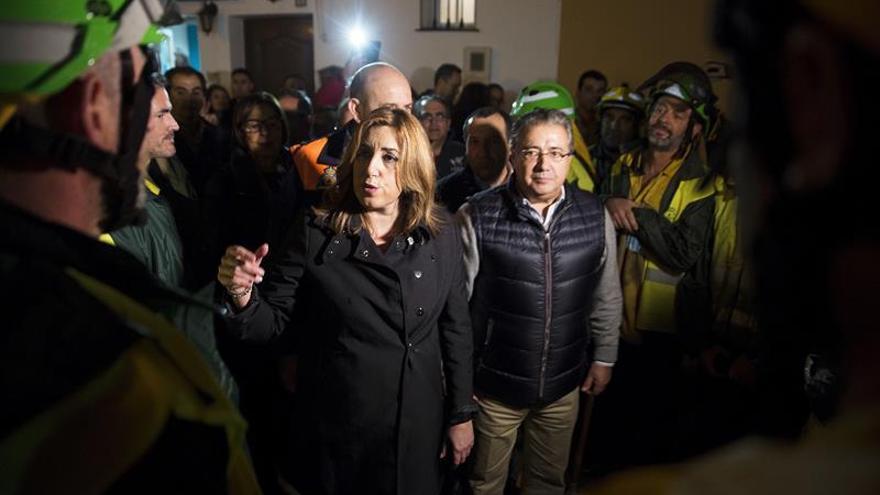 Susana Díaz trata con Rajoy sobre ayudas a las zonas afectadas por el temporal