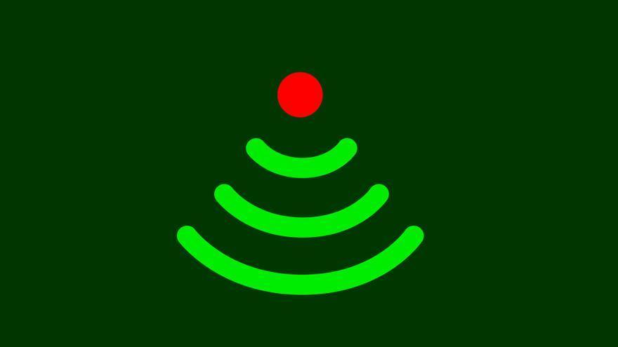 Un árbol de Navidad con tecnología wifi