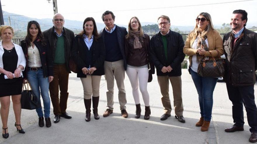 Visita del PP a la Sierra d Gata con Carlos Floriano / Twitter @VGdelMoral