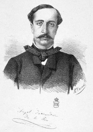 Retrato de Ángel Fernández de los Ríos, obra de Rufino Casado. Biblioteca Nacional de España.