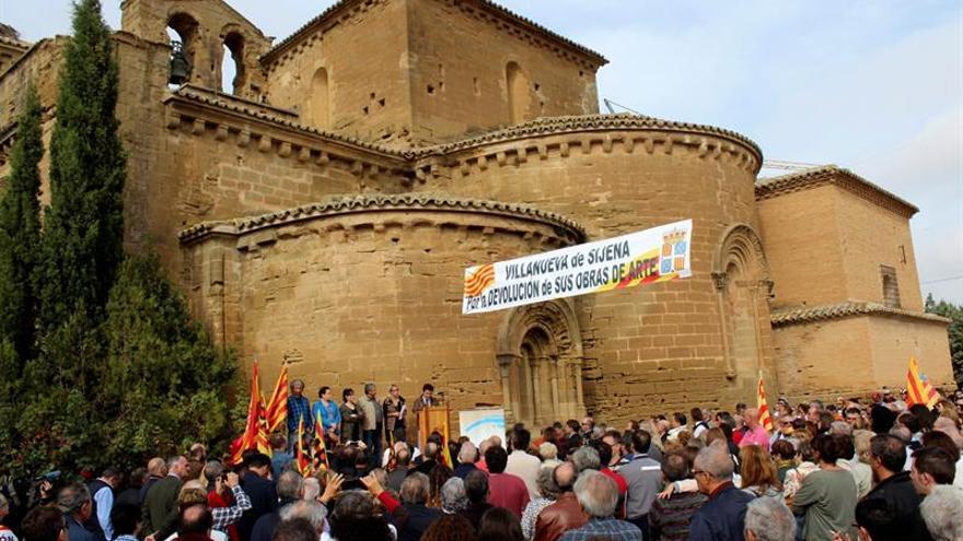 """El Govern catalán cree que """"no se dan las condiciones"""" para entregar los bienes de Sijena"""