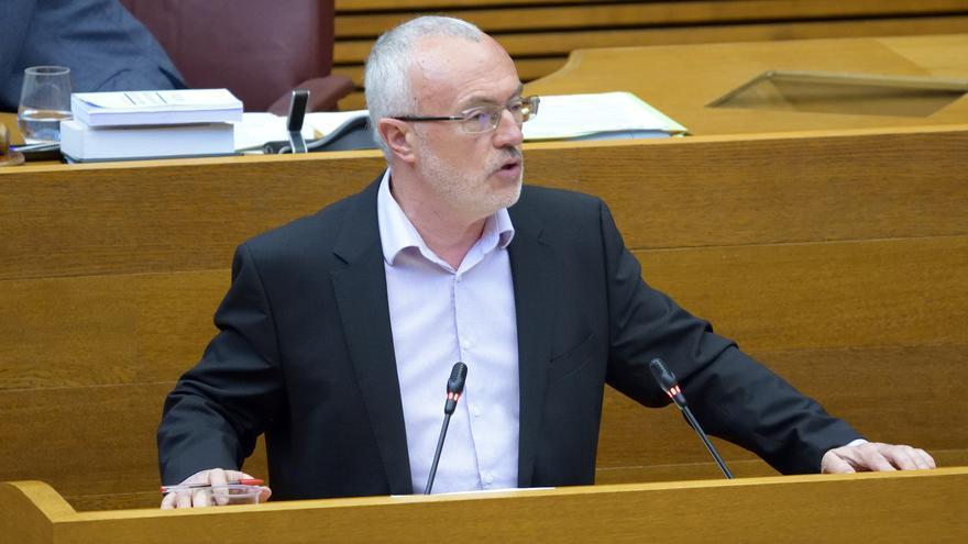 Antonio Montiel, portavoz de Podemos, en les Corts
