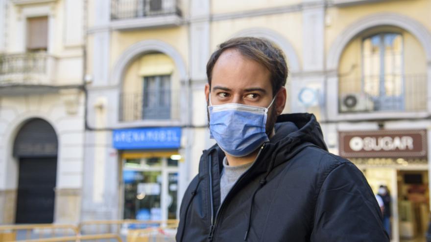 El rapero Pablo Hasel, el 1 de febrero de 2021, en Lleida.