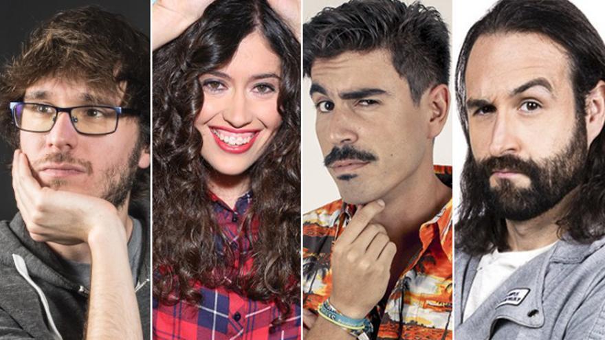 De izquierda a derecha: David Martos, Pilar De Francisco, Luis Fabra y Kako Forn, guionistas de la gala de los Goya