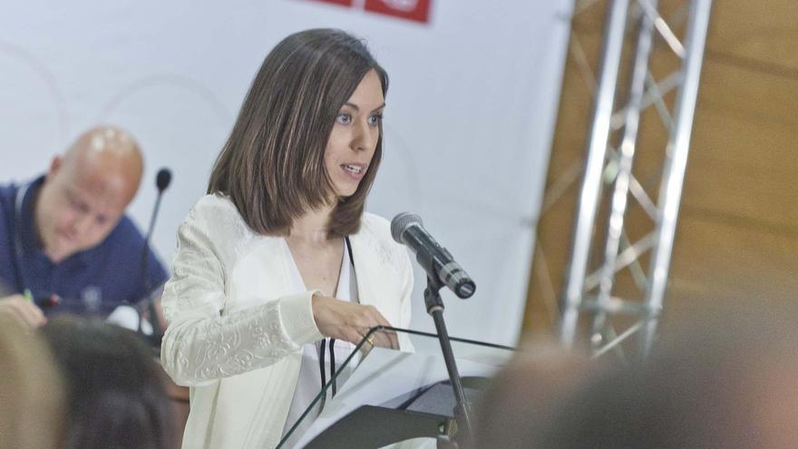Diana Morant, en una asamblea del PSPV-PSOE en Gandia.