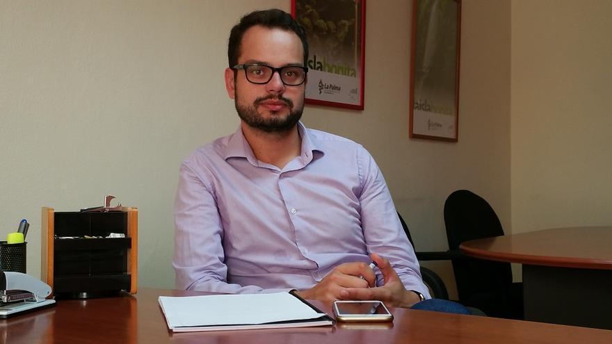 Jordi Pérez Camacho es consejero del Cabildo. Foto: LUZ RODRÍGUEZ.