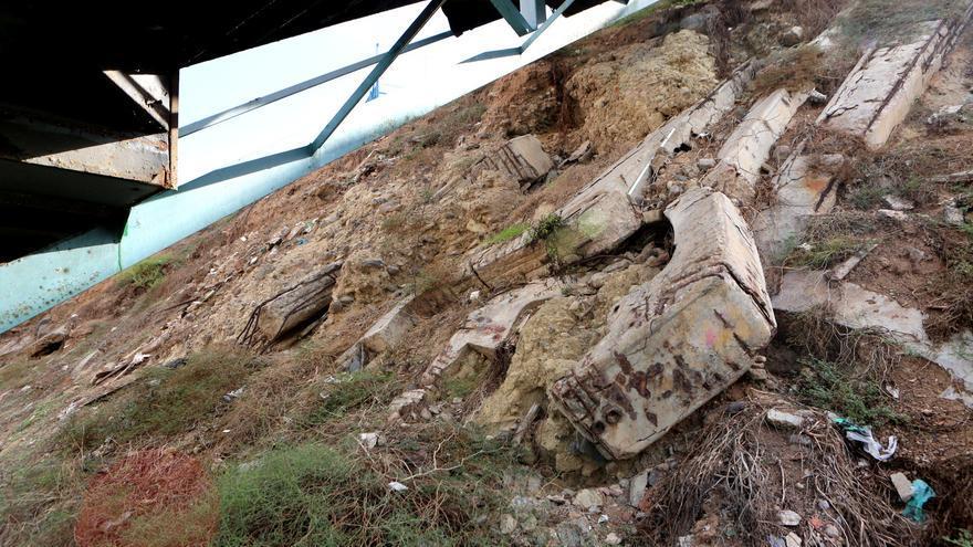 Restos del tren vertebrado de Las Palmas de Gran Canaria