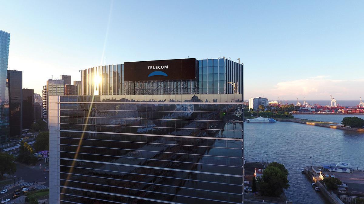 Edificio central de Telecom Argentina en Puerto Madero