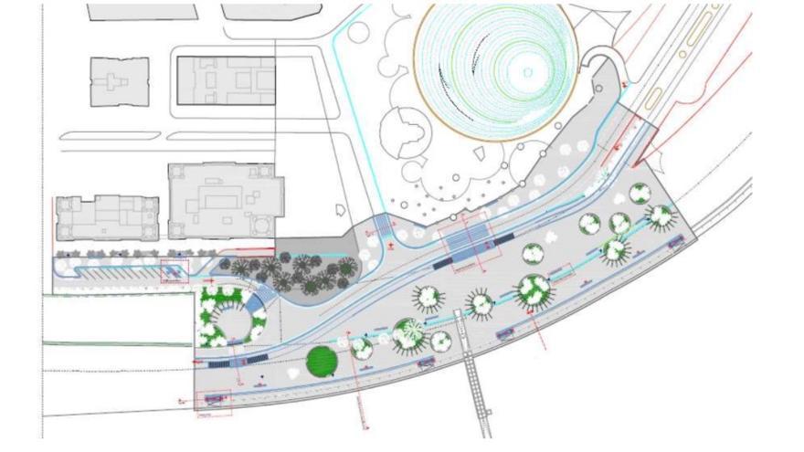 Planificación prevista para la zona de la plaza de España