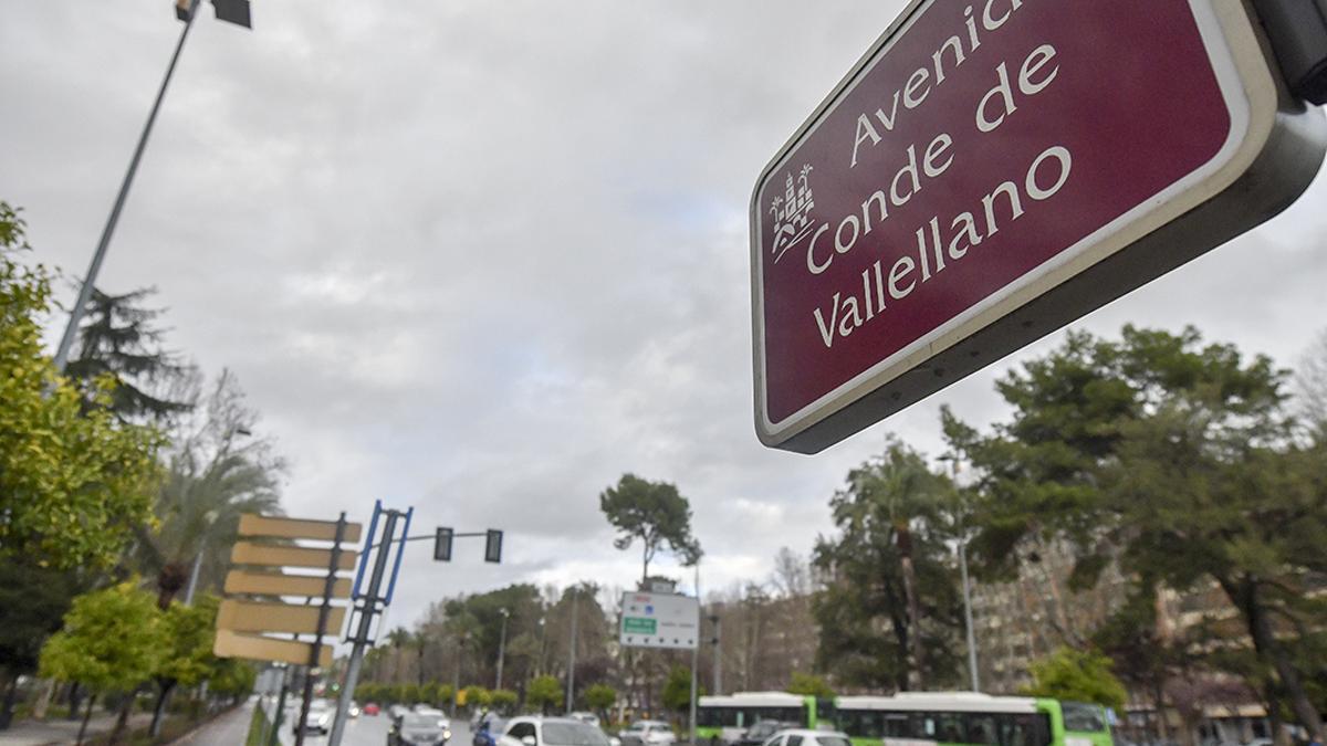 Un cartel para señalar una calle de Córdoba