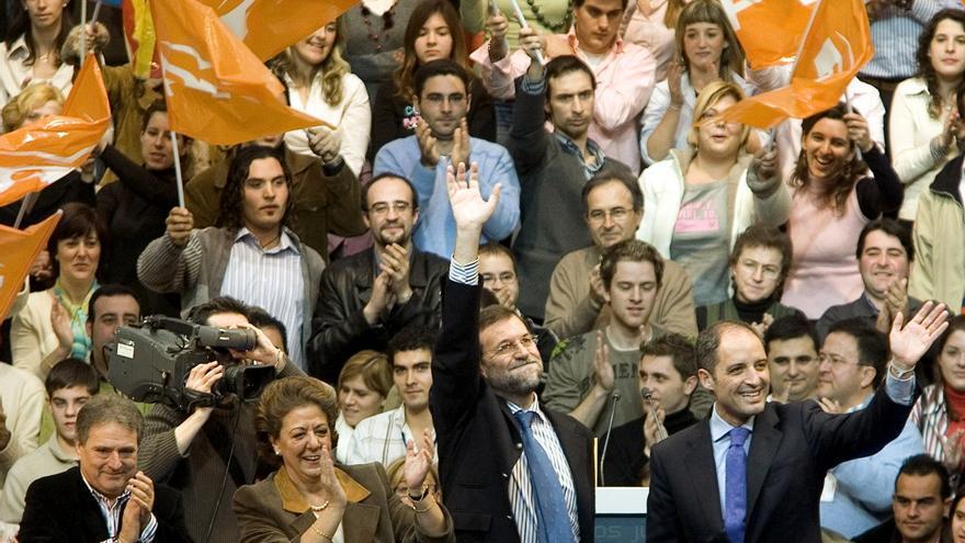 Alfonso Rus, Rita Barberá, Mariano Rajoy y Francisco Camps