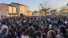 Protesta ante el hospital de Verín contra el cierre del paritorio