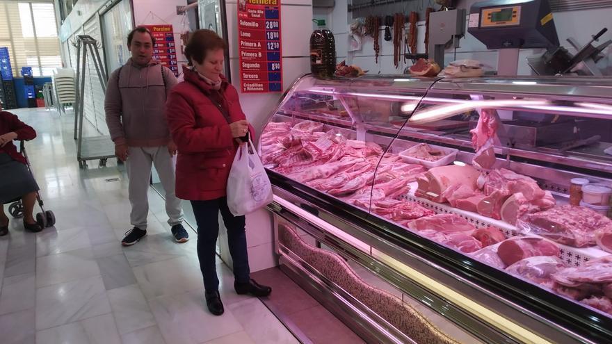 Carnicería Isidoro Ortega Toledo en la plaza de las Carretas de Albacete