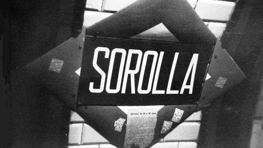 Placa de metro con el nombre de Sorolla en la actual estación de Iglesia | HISTORIAS MATRITENSES