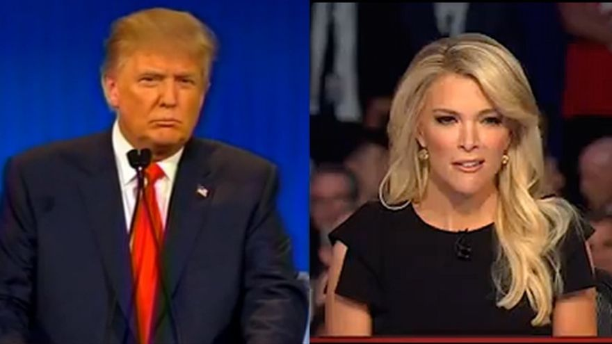 Donal Trump y Megyn Kelly.