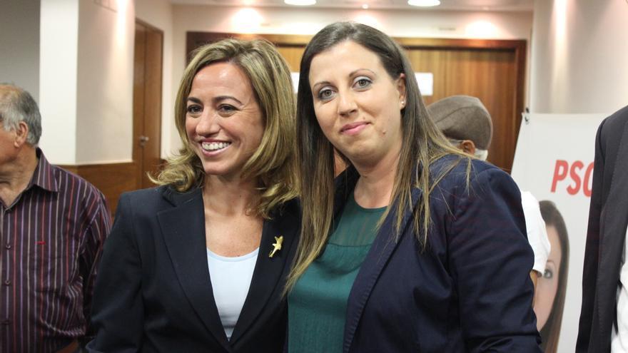 Carme Chacón junto a Sonia Almela, candidata socialista a la Alcaldía de Ceutí / PSS