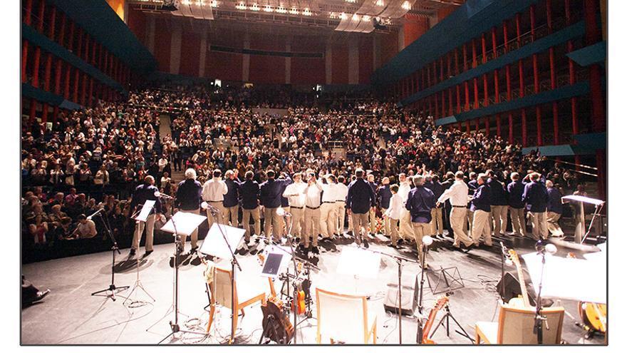 'Jueves de Boleros' durante una actuación en el Palacio de Festivales.