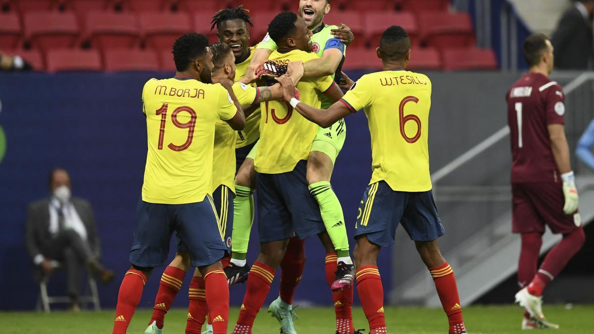 Colombia celebra su avance a semifinales