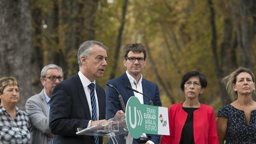 Urkullu exige al Gobierno que termine de una vez la llegada del TAV a Euskadi