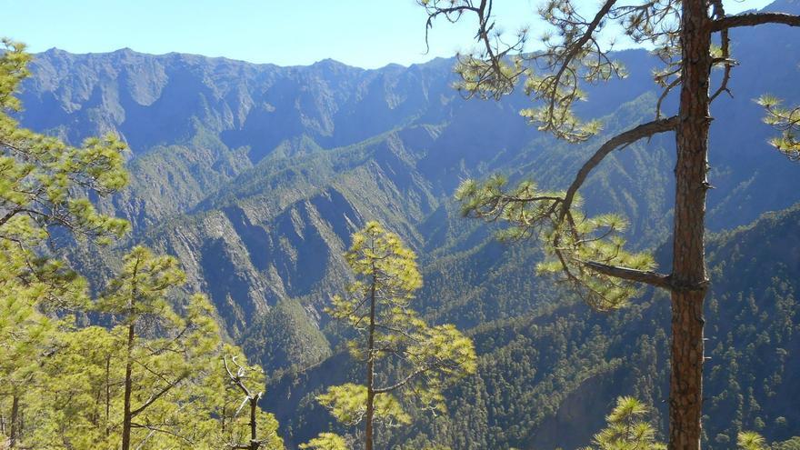 Panorámica del Parque Nacional de La Caldera de Taburiente. Foto: PARQUE NACIONAL.
