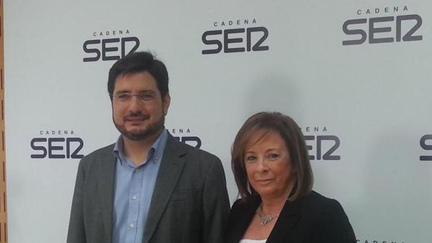 Ignacio Blanco y Marga Sanz antes del debate en la Cadena Ser / Cadena Ser