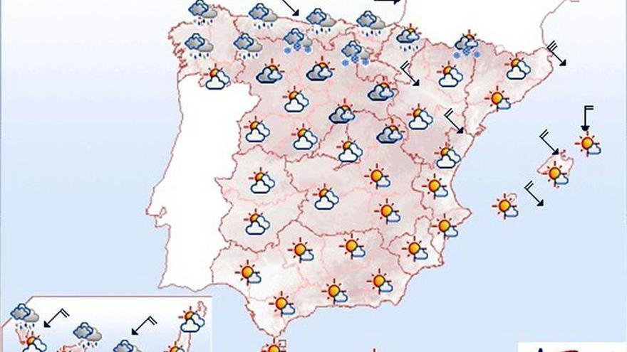 Mañana, heladas en la mayor parte del interior peninsular y Pirineos