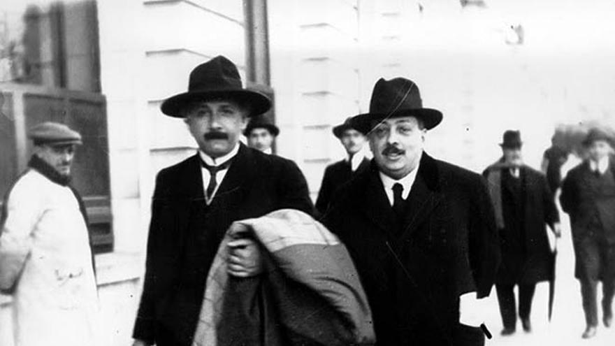 Albert Einstein y Blas Cabrera en Madrid.