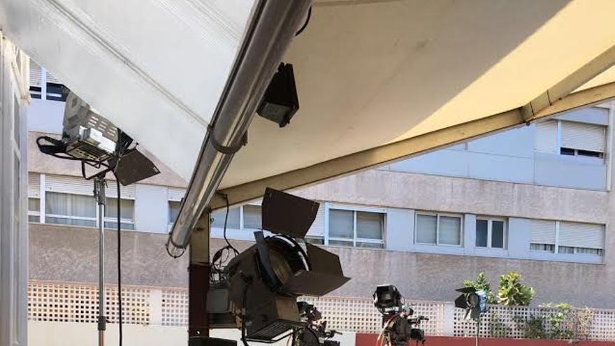 Preparativos para el acto de Rajoy en Gran Canaria.