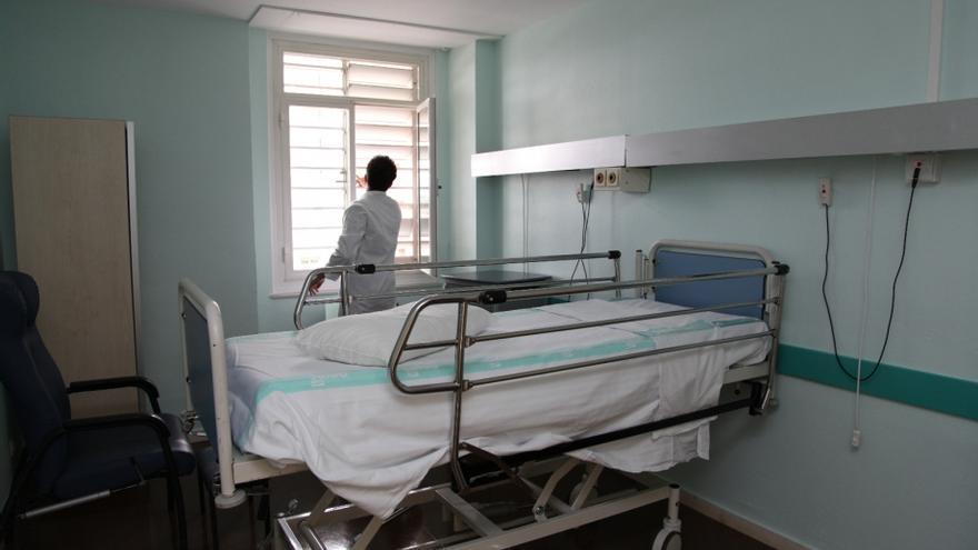 Habitación en el Hospital Miguel Servet de Zaragoza.