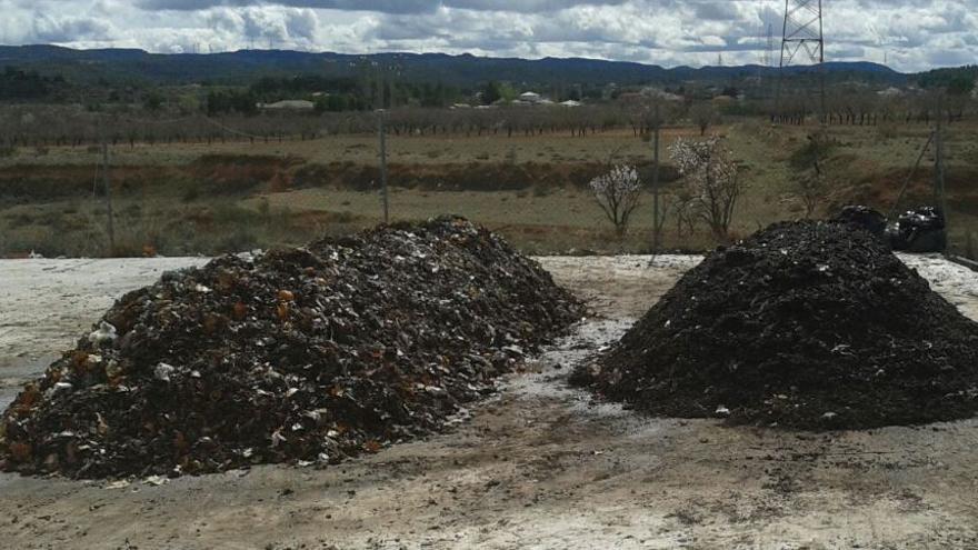 Compost en tratamiento para ser utilizado como fertizante