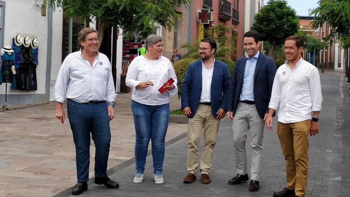 Visita de Teodoro García Egea a Los Llanos de Aridane en mayo de 2019.