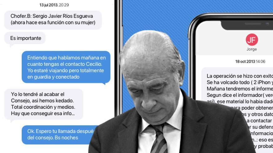 Los cuatro mensajes que implican a Jorge Fernández Díaz en el espionaje a Bárcenas