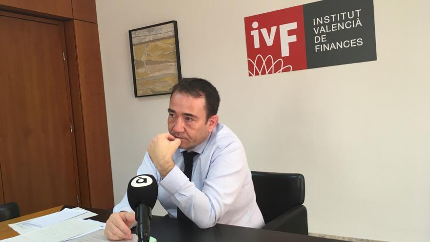 Manuel Illueca, en la rueda de prensa en la sede del IVF para explicar la operación con el grupo EPI.