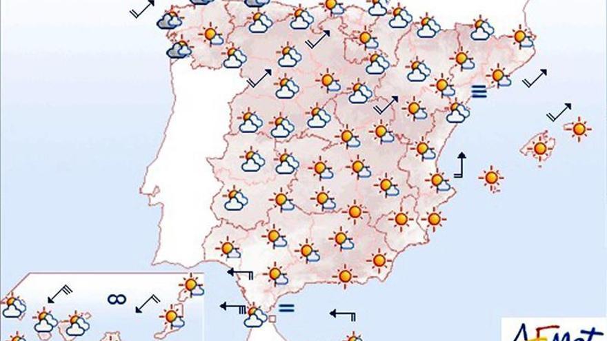 Hoy, más calor en el centro y sur peninsular, cuenca del Ebro y Canarias