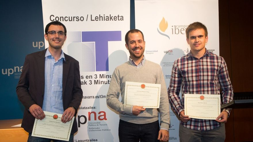 Javier Osés gana la final del concurso Tesis en 3 Minutos de la de la Universidad
