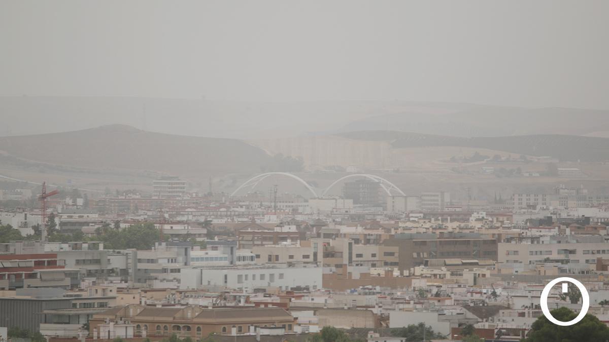 Polvo en suspensión sobre Córdoba este domingo