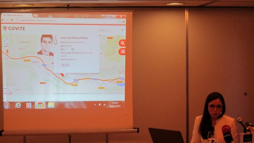 Covite presenta el 'Mapa del terror de Navarra' con los 42 asesinatos de ETA en la Comunidad foral
