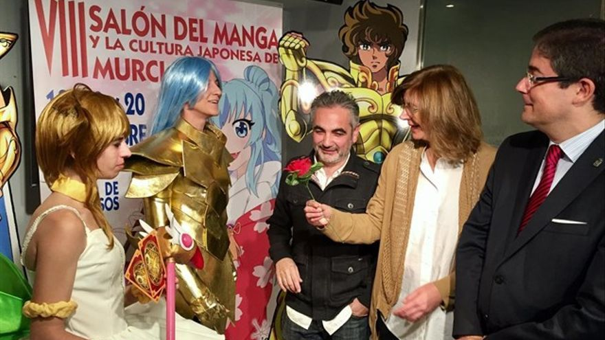 Juan Álvarez presentando el VII Salón del Manga