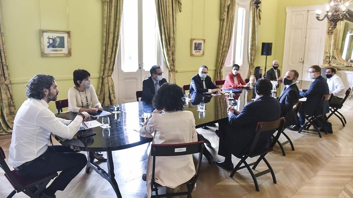 El gabinete económico se reunión este miércoles en Casa Rosada.