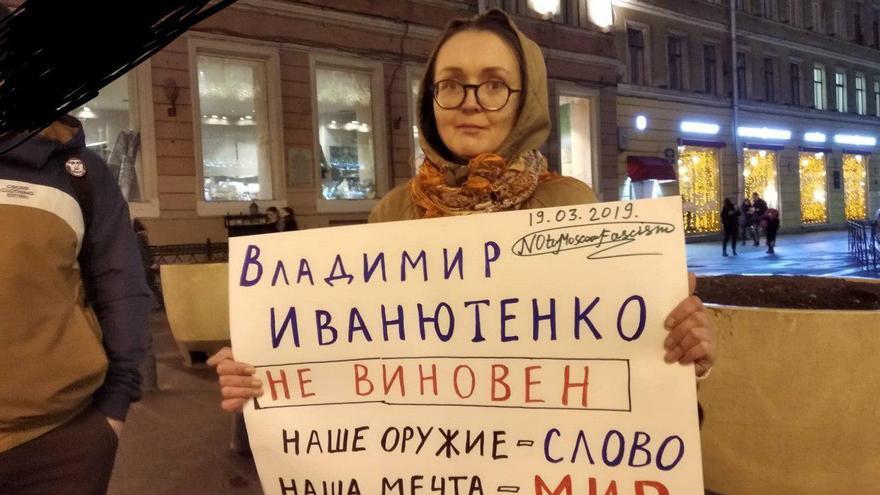 Yelena Grigoryeva en una acción LGTB