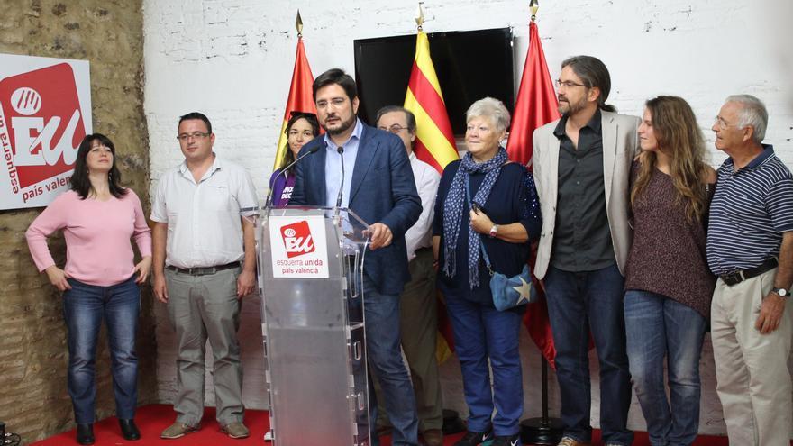 Ignacio Blanco, tras su elección como candidato de EU a la Generalitat.
