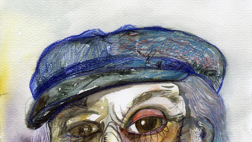 Ilustración de Paco Rabal/ Teresa Arroyo Aranda, estudiante de Ilustración de la Escuela de Arte de Murcia