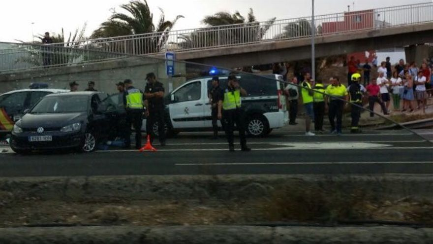 Accidente en la GC-1.